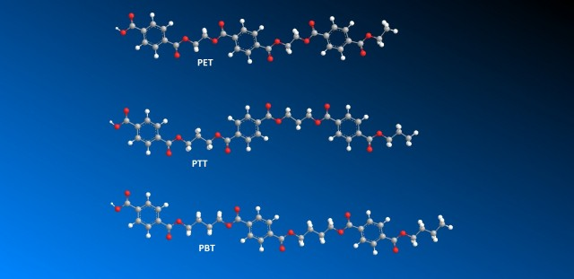 Polyester Polymer Chains Modeled With Chem Bio 3D Ultra